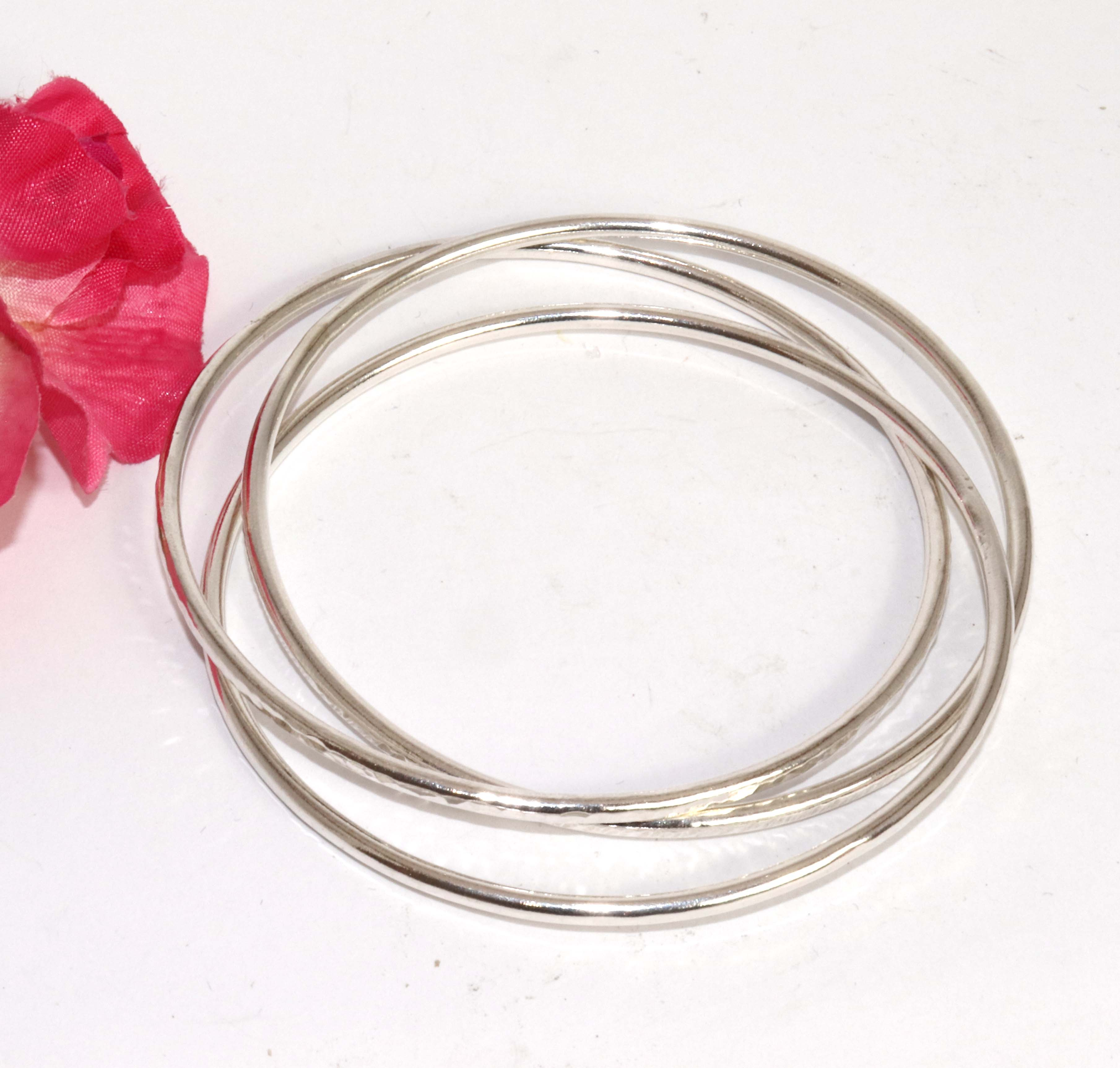 Triple Russian Wedding Ring Style Bangle