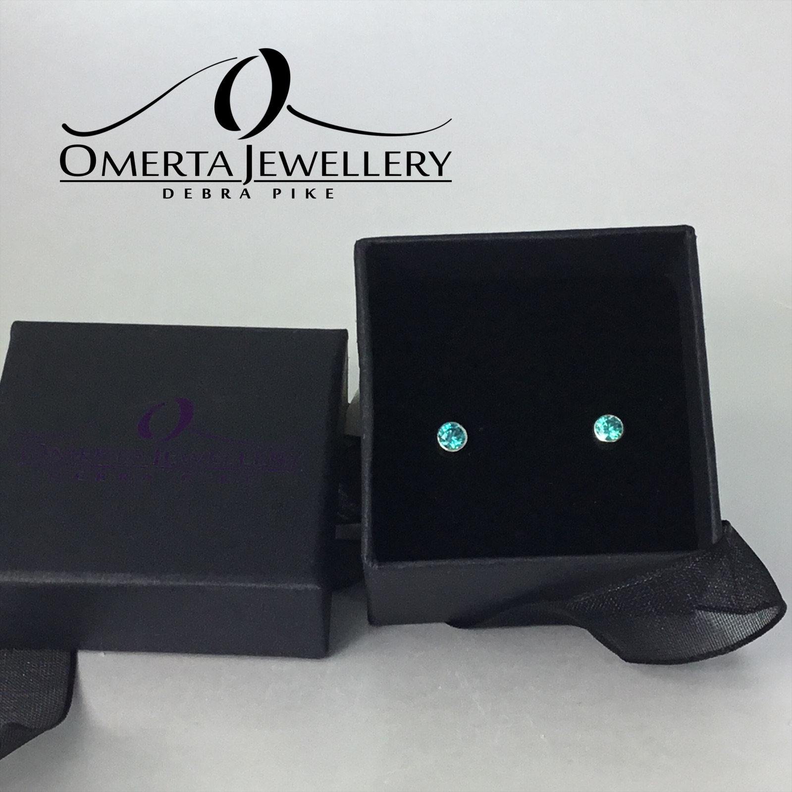 Sterling Silver & Swarovski Zirconia Stud Earrings