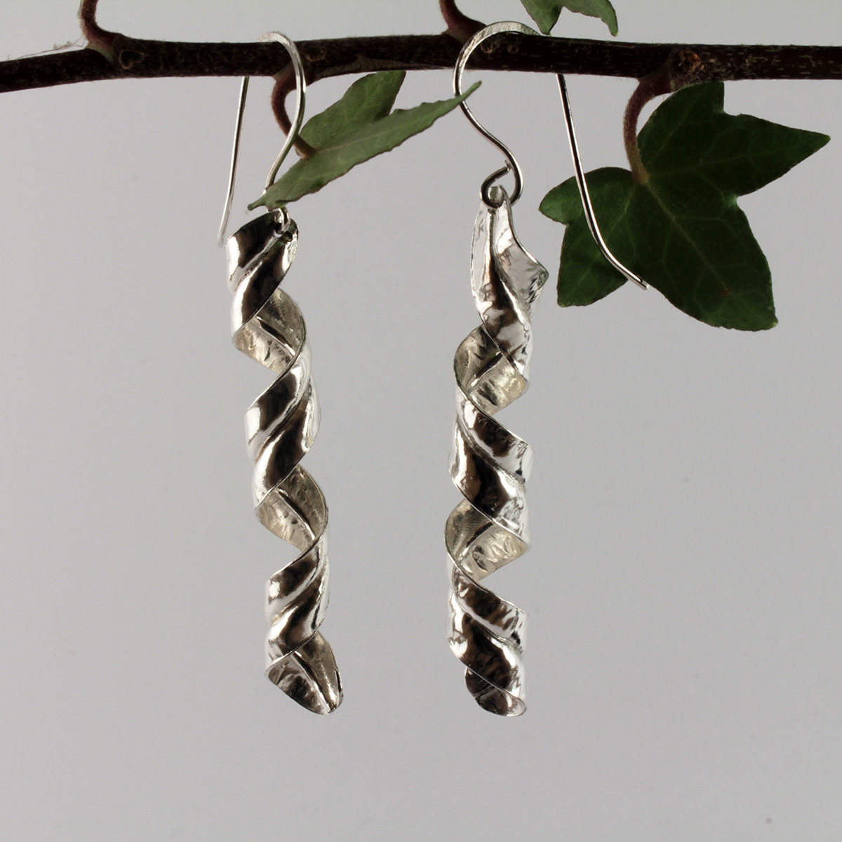 Fine Silver Drop Earrings