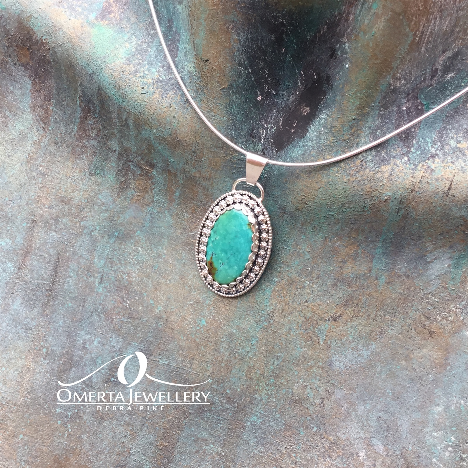 Vintage Style Bao Canyon Turquoise Necklace