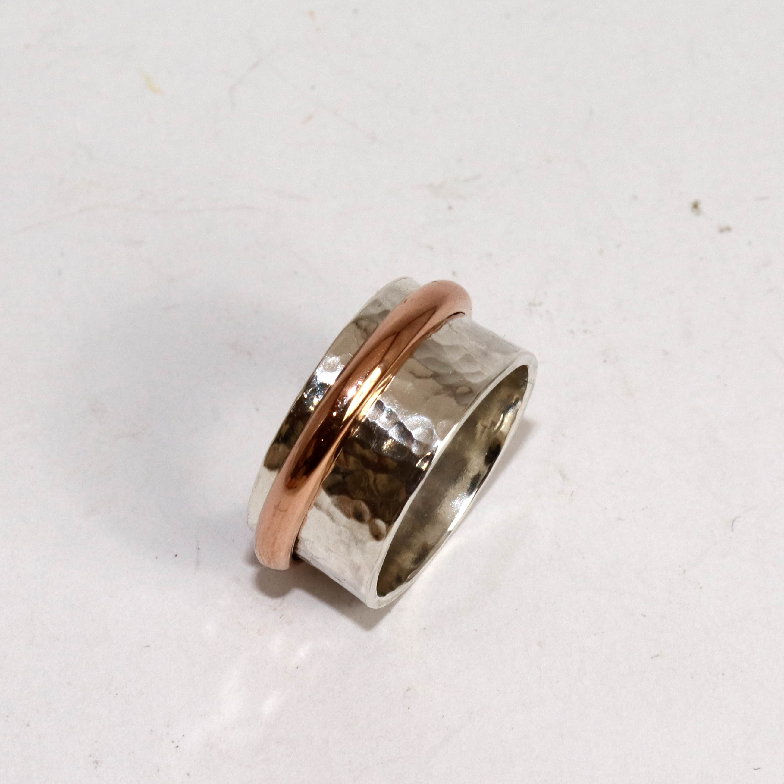 Spinner Ring With Single Spinning 12ct Rose Gold Filled Band
