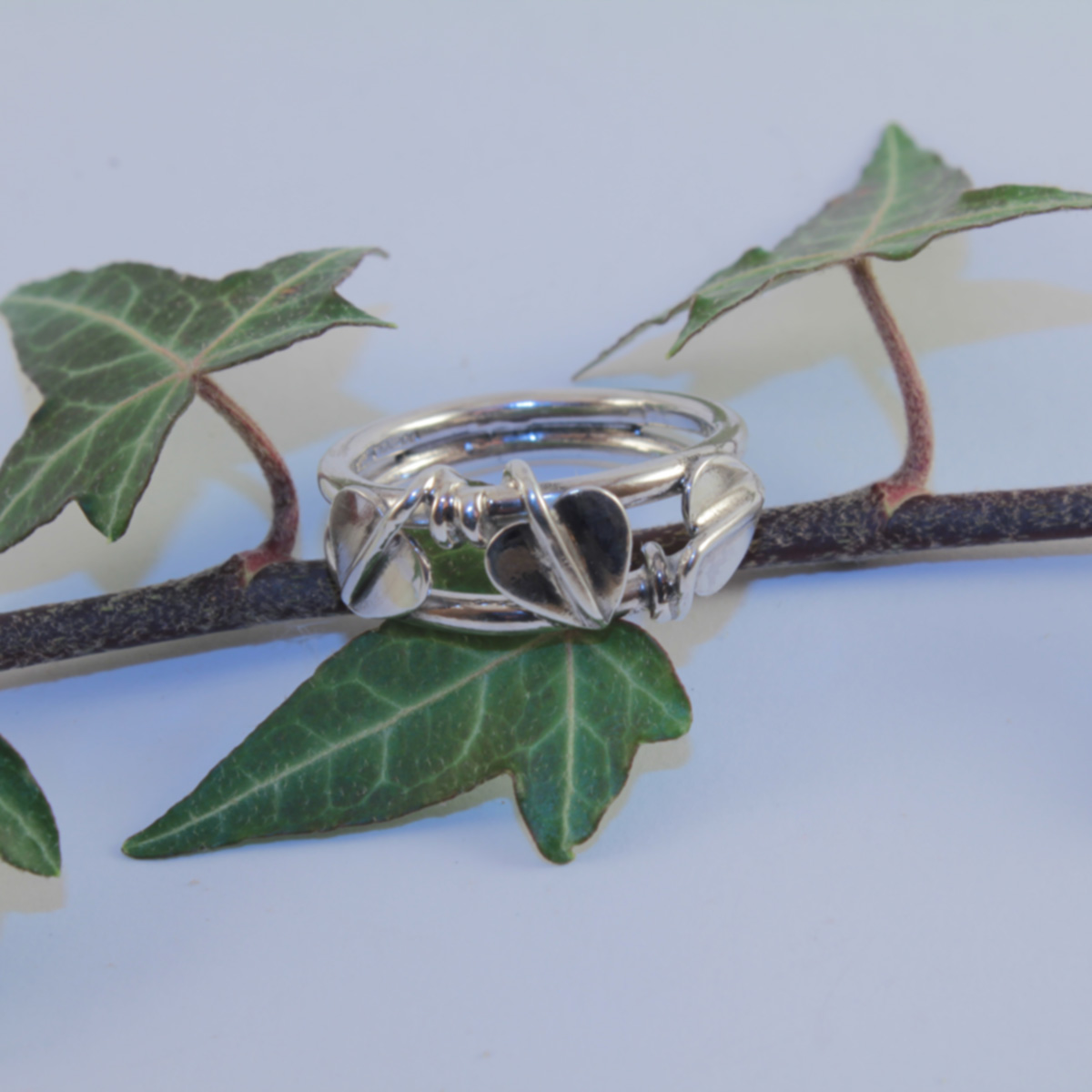 Entwined Leaves Ring