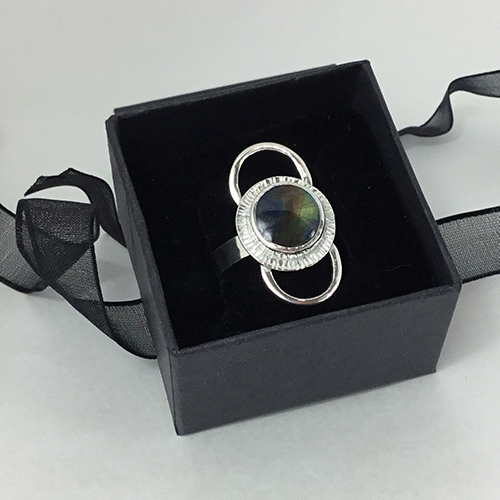 One-Of-A-Kind Sterling Silver & Finnish Spectrolite Ring